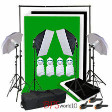 studio ombrello softbox 1250W continua illuminazione foto 3 sfondo tela - kit IT