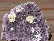 Large Raw Amethyst Crystal Chunk, With Calcite Formation  Powerful, Protection