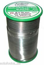 Quality Soldering Tin Lead free 0,7mm 500g According to DIN Sn99Cu1 wire
