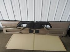 1993-2002 Camaro Z28 SS Door Panels pair Tan  Leather OEM 743