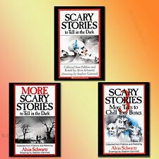Spooky Scary Stories to Tell in the Dark 1 2 3 books set  Halloween Ghost Tales