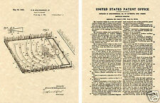 US PATENT of DRIVE IN THEATER Art Print READY TO FRAME!!!! 1933 Movie theatre