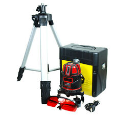 Shockproof 5-Line Self Leveling Precision Laser Level kit Rechargeable - Tripod
