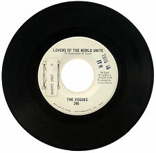 """VOGUES  """"LOVERS OF THE WORLD UNITE c/w BRIGHTER DAYS""""  60's   DEMO    LISTEN"""