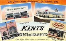 KENTS Restaurants Atlantic City, NJ Roadside New Jersey Vintage Postcard c1950s