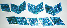 12 PC of Blue Foil Fusing Glass 2 Ounces Back Textured Smooth Front 0