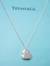 Tiffany & Co Sterling Silver Two Hearts Pendant Necklace