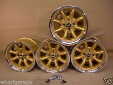 CAPRI CORTINA ESCORT 8X15 DEEP DISH ALLOY WHEEL SET JBW MINILIGHT STYLE, FORD