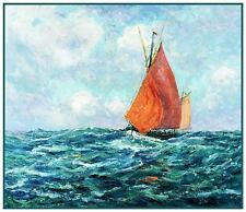 Tuna Boats at Sea by French Maxime Maufra Counted Cross Stitch Pattern