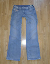 Blue Denim DIESEL INDUSTRY RYOTH-N Button Stonewashed Bootcut Jeans Sz W 30 L 33