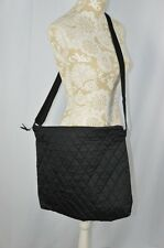 Black Quilted Zipper Unisex Boy Girl Easy Clean Light Diaper Bag Messenger Dads