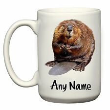 BEAVER MEME LARGE 15OZ MUG CUP PRESENT GIFT ANIMAL CUTE PERSONALISED ANY NAME