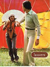 PUBLICITE ADVERTISING 074  1976   LASSERRE  pret à porter homme & femme pantalon
