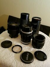 Lot of 35mm camera lenses vivitar canon rokunar tiffen lens photography