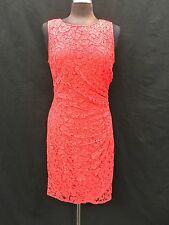 """ADRIANNA PAPELL DRESS/RED/LACE DRESS/RETAIL$160/SIZE16/LENGTH 41""""/"""