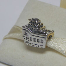 New Authentic Pandora charm 791043 Cruise Ship All Aboard Box Included