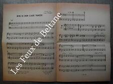 Intro Show Claude Francois Frankenstein Isabelle Musique fac similé 1972