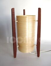 RARE ORIGINAL 60S ATOMIC MID CENTURY CREAM FIBERGLASS TRIPOD ROCKET TABLE LAMP