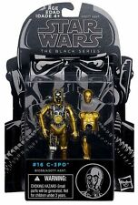 """C-3PO ( 4"""") 2014 (BLACK SERIES) STAR WARS ACTION FIGURE #16 w/ADD-ON OUTER ARMOR"""