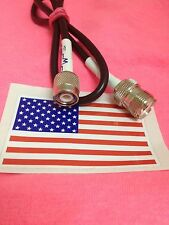 """20"""" TNC male to PL-259/SO-239 female RG58 cable jumper pigtail MADE IN USA"""