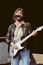 "12""*8"" concert photo of Eric Clapton, playing at Blackbushe in 1978"