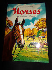 HORSES A Maxton Book About E Joseph Dreany Vtg 1950 Children's Illustrated HC