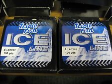 2 Spools Triple Fish Ice Fishing Line / 4 Lb Test / 100 Yds Clear