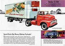 Print.  1956 Ford Series C-750 C.O.E. Tractor-Trailer Advertisement