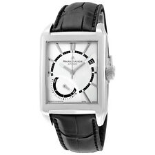 Maurice Lacroix Pontos Silver Dial Black Leather Mens Watch PT6207-SS001-130