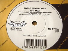 "ENNIO MORRICONE - CHI MAI / YANNIS MARKOPOULOS - WHO PAYS....  7"" OLD GOLD VINYL"