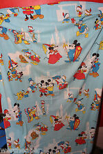 VINTAGE DISNEY MICKEY MOUSE DISNEYLAND TOMORROWLAND 3 PIECE BEDSHEET TWIN SET