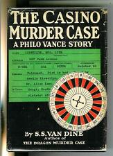 THE CASINO MURDER CASE by Van Dine, rare US Scribners 1st crime hardcover in DJ