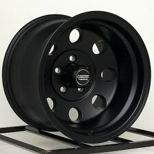 15 Inch Black Wheels Rims Import Truck Toyota Isuzu GM Chevy Truck 6 Lug 15x10""