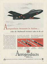 1949 Aeroproducts Aviation Ad McDonnell F2H Banshee Jet Fighter Aircraft Vintage
