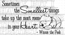 Winnie the Pooh Quote vinyl decal baby child loving gift unisex so cute 60x33cm