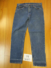 levi's used blue 506 USA straight jean Tag 38x32 meas 36x32 zip10115