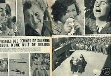 Coupure de Presse Clipping 1954 (2 pages) Ouragan Déluge à Salerne