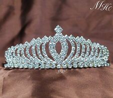 Pretty Tiaras Hair Combs Clear lRhinestone Crowns Prom Aniversary Party For Kids