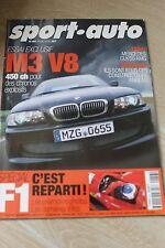 SPORT AUTO N°457 FEVRIER 2000 BMW M3 V8 MERCEDES CLK 55 AMG F1 F48