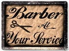 BARBER SHOP hair salon shop VINTAGE style metal SIGN RETRO PLAQUE art 485