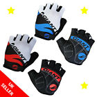 Giant Half Finger Cycling Gloves Bike Gel Padded Bicycle Fingerless Sports