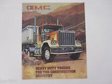 1982 GMC Heavy Duty Trucks Semi Brigadier 7000 Series Sales Brochure Catalog