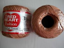 Red Heart Fashion crochet thread,100% cotton, Copper Mist, size 3, lot of 2