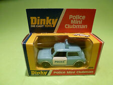 DINKY TOYS 255 MINI CLUBMAN - POLICE - RARE SELTEN - GOOD COND. IN BOX