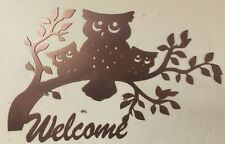 Owl METAL ART COLLECTIBLE WILDERNESS HUNTING CABIN RUSTIC LODGE WALL DECOR
