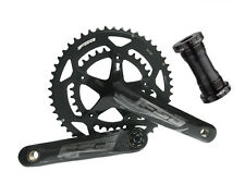FSA OMEGA 50/34T Road Bike Crankset 165mm Double 10/11Speed MegaExo Black Color