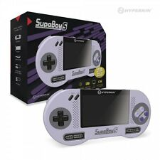 HYPERKIN SUPABOY S SNES NINTENDO PORTABLE CONSOLE WITH TWO CONTROLLERS UK STOCK