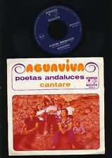 Aguaviva - Poetas Andaluces - Cantare - 7 Inch Vinyl Single - HOLLAND