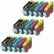 15 Pack Ink Set + Smart chip for Canon PGI-220 CLI-221 iP4600 iP4700 MP560 MP620