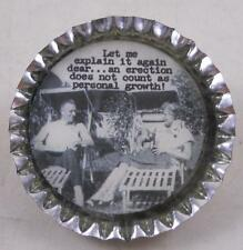 Primitives By Kathy Trash Talk Bottlecap Pin Risque Whimsical Badge Funny Gift